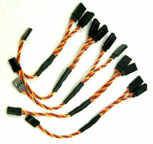 5Pcs 6in RC Servo Y-Harness Extension Twisted Wire For Futaba JR Spektrum