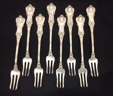 EIGHT Beautiful Frank Smith Sterling Silver Seafood Forks - Edward Vll