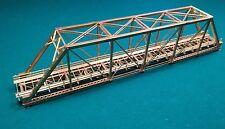"Bridge All Brass HO Scale Pin-Connected Truss Style Bridge 23""Lx3.35""Wx5""H"