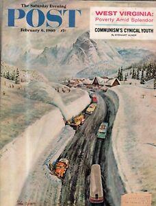 1960 Saturday Evening Post February 6 - Snoqualmie Pass; Grace Kelly; WVA; Stout