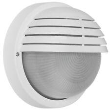Außenwandleuchte  Außenlampe Wandlampe mit Gitter weiß IP44 D=190mm Triartis