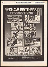 SHAW BROTHERS__Original 1981 Trade Print AD /promo poster__Corpse Mania_Spearman