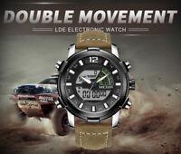 Men's Sports Multi-Function Display Backlight Digital Quartz Wrist Watch Silver