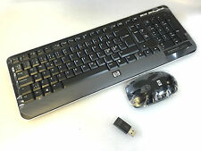 Danish Keyboard and mouse wireless HP 697468-081 CU1261 NEW 90 Days RTB warranty