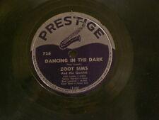 "ZOOT SIMS My Silent Love / Dancing In The Dark John Lewis Prestige 10"" 78 rpm"