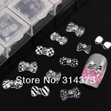 60PCS 3D Resin Flat Back Bow For Acrylic Nail Art Salon UV Gel Tips Decoration