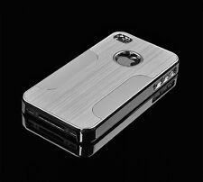 Apple iPhone 4 4S case Luxury Shockproof Aluminum Chrome Back Hard Case Cover