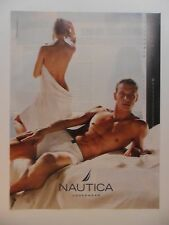 2002 Print Ad Nautica Men's Underwear Briefs ~ Sexy Girl in Towel