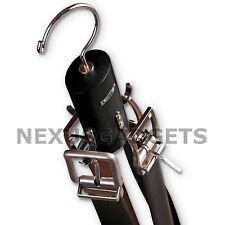 Rotating Belt Necktie Tie Hanger Closet Organizer Spinning Hook Solid Wood Metal