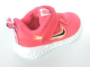 Nike Revolution 5 Fire Girls Schuhe Sneaker Größe UK 4.5 - 9.5 ck4551 600 Infant