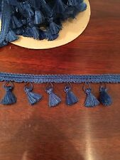 "15 Yards of 2-1/8"" Royal Blue Conso Princess Collection Tassel Fringe Trim"