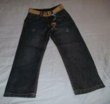 New PD&C youth boys slim straight jeans with belt  size 5