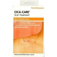 ツ BEST PRICE! CICA-CARE ADHESIVE GEL SCAR SHEET 12CM X 6CM RED DARK RAISED SCARS