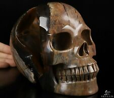 "LIFESIZED 6.8"" DINOSAUR EGG AGATE Carved Crystal Skull, Realistic,  Healing"