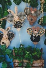 Pattern Primitive Teddy Bear Doll & Rabbit Doll Uncut Oop Stuff n Stitches