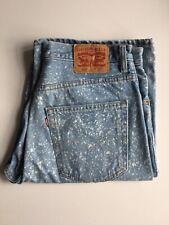 Levis 569 Shorts 32w Bleach Splatter