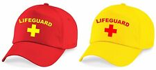 LIFEGUARD Printed Baseball Cap Yellow/Red Hat Funny Fancy Dress Costume Outfit