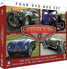 CLASSIC CARS VINTAGE & POST-WAR - 4 DVD BOX SET, JAGUAR, MG, RILEY, ROVER & MORE