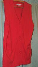 RED JUMPER / WAIST COAT, SIZE L COTTON & VISCOSE lovely