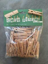 50 Epingles à linge - pinces à linge naturelles 45mm