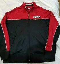 4564c7320998 Vintage FILA SPORT ITALIA Warm Up Jacket Mens Size L Italy Red/Black 1990s  retro