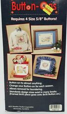 """HTC 10x10"""" Counted Cross Stitch 14 Count Aida Fabric BUTTON-ONS Sealed NIP"""