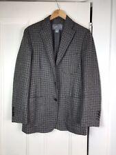 Hickey Freeman Gray Brown Houndstooth Wool Cashmere Sportcoat Blazer S