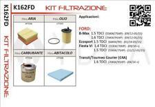 KIT 4 FILTRI FORD FIESTA VI / B-MAX / ECOSPORT 1.4/1.5/1.6TDCI 2010>
