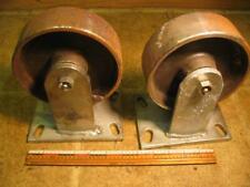 2 6x2 Steel Caster Wheels Fixed