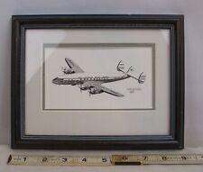 PAN AMERICAN AIRLINES LOCKHEED CONSTELLATION AIRPLANE ART PRINT