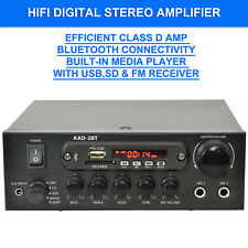 KAD-2BT HiFi Digital Stereo Amplifier Bluetooth USB SD FM Class D 110W 2 x Mic