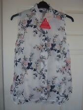 Oasis ladies sleeveless buttoned floral print top brand new with tags