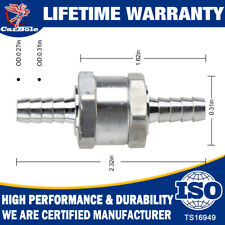 "8mm 5/16"" Aluminum One Way Car Fuel Non-Return Check Valve Petrol Diesel Oil"