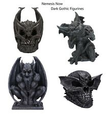More details for nemesis now black dark gothic figurines dragon skull draco bat adalwood trust me