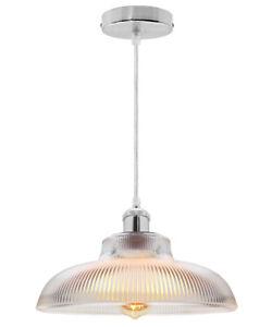 Modern Vintage Industrial Loft Glass Ceiling Lamp Shade Pendant Light M0180