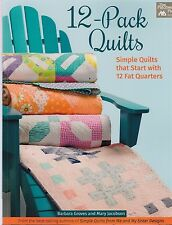 12 Pack Quilts, simple quilts that start with 12 fat quarters - pattern BOOK