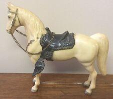 "Breyer Glossy Palomino Horse & Saddle w/ Chain Reins & Saddle Plastic 8"""