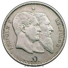 1 franc 1830-1880 Léopold II 50 ans de l'Indépendance Belgique SUP - Argent