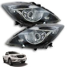 For 16+ Face Lift New Mazda Bt50 Head Lamp Light Led Projector Black Ute Genuine