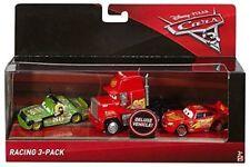 Disney Pixar Cars 3 Diecast Racing 3-Pack Lightning McQueen, Mack, Chick Hicks