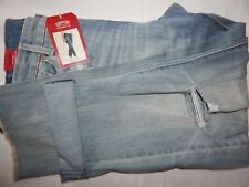 Signature Levi Strauss Jeans 14 35x27 High Rise Ankle Straight Light Wash Crop