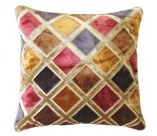 "16"" x 16"" with INSERT Sheen Soft Decorative Velvet Throw Pillow Gold Multicolor"