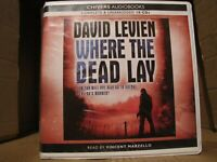 """David Levien's """"Where The Dead Lay"""" an Audiobook in CD Format read by V Marzello"""
