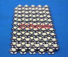 10PCS 3W High Power Cold White LED Light Emitter 13000-15000K with 20mm Heatsink