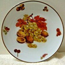 "Mitterteich Bavaria Germany DEBRA Grape Salad Plate 7-3/4"" Grapes Walnuts Leaves"