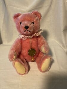 "Vintage Hermann Original Teddy 12"" Pink Jointed Mohair Clean Excellent Condition"