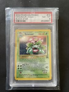 Pokemon - Venusaur 13 Rare Holo Promo Black Star PSA 8 - WOTC - ENGLISH