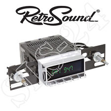 "Retrosound ""hermosa"" radio del coche car radio Oldtimer style cromo display y teclas"
