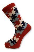 Frederick Thomas tetris design mens novelty cotton socks