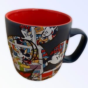 DISNEY STORE Exclusive Mug Mickey Mouse Comic Coffee Navy Blue Multi Cup 9cm